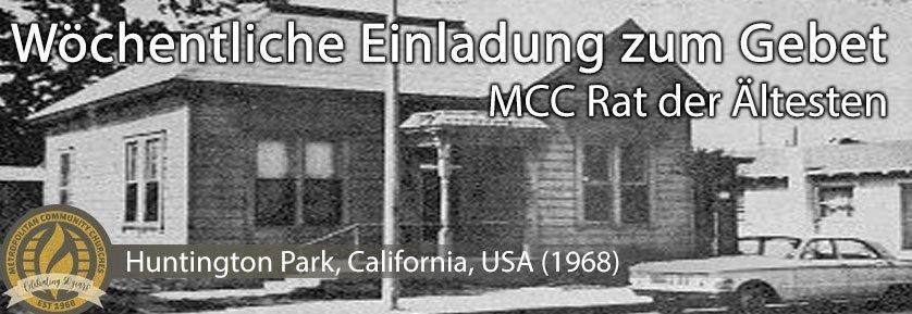 Rat der Ältesten Wöchentliche Aufruf zum Gebet - Huntington Park, California, USA (1968)