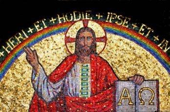 Gilded Jesus Mosaic