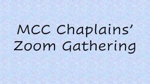 Chaplains Zoom Gathering