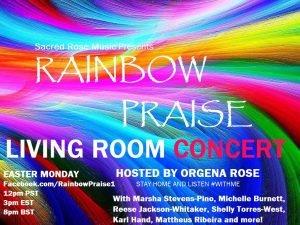 Rainbow Praise, living room concert
