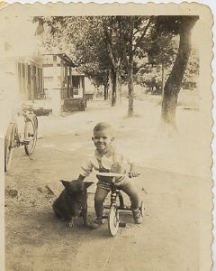 very young Troy and his trike