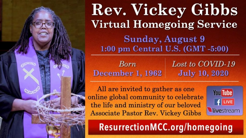 Rev. Vickey Gibbs Virtual Homecoming