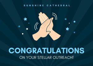 Congratulations Sunshine Cathedral
