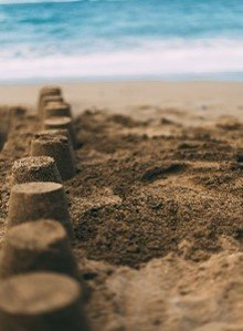 Picture of sandcastles at the beach