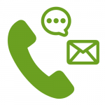 Phone / Text / Email icons