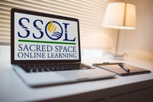 SSOL logo on a laptop
